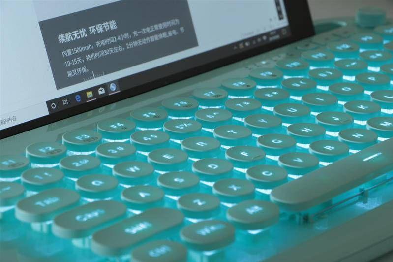 绚丽多彩卡哇伊,小姐姐都喜欢的巧克力蓝牙平板专用键盘实测-2
