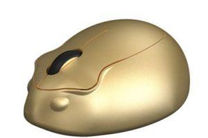 艾酷仓鼠金色限量版无线鼠标上架预售-1