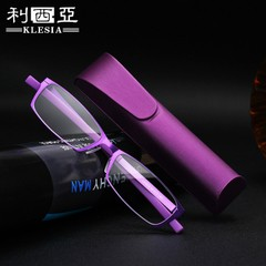 超轻防蓝光老花眼镜男女式时尚高清折叠便携花镜显年轻老人老光镜