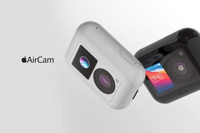 苹果正式发布迷你相机「AirCam」概念图,多款配色可选-1