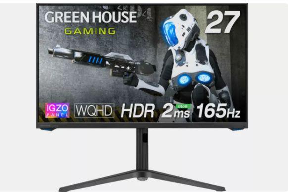 Green House 推出 IGZO 电竞面板显示器,27 英寸-1